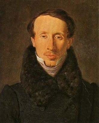 Albert Küchler - Hans Christian Andersen from 1834