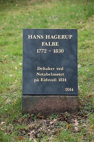 Hans Hagerup Falbe - Hans Hagerup Falbe grave site at Vår Frelsers gravlund, Oslo