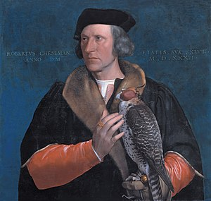Robert Cheeseman - Portrait with falcon by Hans Holbein the Younger (1533).
