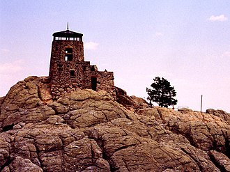 Black Elk Peak - Image: Harney Peak Fire Tower 1997