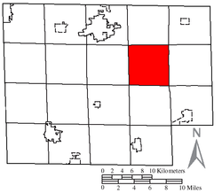 Location of Hartland Township in Huron County