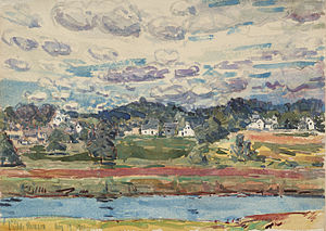 Newfields, New Hampshire - Childe Hassam, Newfields, New Hampshire, 1917, Princeton University Art Museum