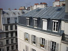 Description de l'image Haussman paris immeuble.JPG.