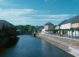 Haverfordwest Quay and Old Bridge South Wales.jpg