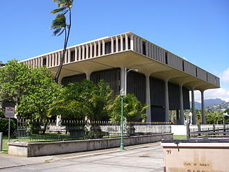 Hawaii State Capitol - Image: Hawaii state capitol from the south east