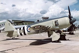 Hawker Sea Fury carrier-based fighter aircraft