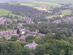 Hayfield, Derbyshire from the northwest.jpg
