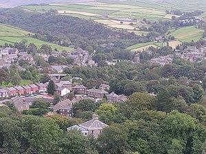 Hayfield - Image: Hayfield, Derbyshire from the northwest