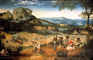 Lobkowicz Palace - Haymaking, Pieter Brueghel the Elder, oil on panel, The Lobkowicz Collections