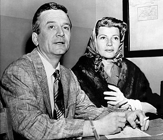 James Hill (producer) - James Hill and Rita Hayworth obtaining their marriage license in Santa Monica (January 27, 1958)