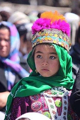 Hazaragi culture - Hazara girl with traditional Hazaragi Clothing