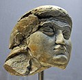 Head of a female worshiper from the Temple of Ishtar at Nineveh, Iraq. 700-625 BCE. British Museum in London.jpg