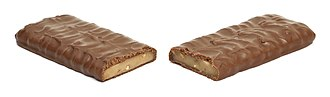 Toffee - A Heath candy bar, which is toffee coated in milk chocolate
