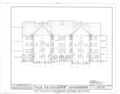 Heidelberg Apartments and Cottages, Braddock Avenue and Waverly Street, Pittsburgh, Allegheny County, PA HABS PA,2-PITBU,21- (sheet 8 of 21).png
