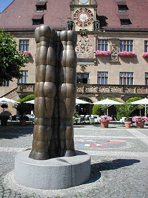 Joannis Avramidis - Sculpture in Heilbronn, Germany.