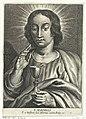 Heilige Johannes de Evangelist met miskelk S. Ioannis (titel op object) Vélins (serietitel), RP-P-BI-2542.jpg