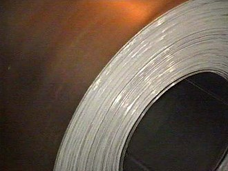 Rolling (metalworking) - A coil of hot-rolled steel