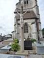 Herbelles (Pas-de-Calais, Fr) croix de cimetière.JPG