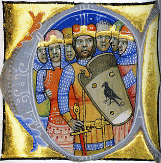 Hungarian conquest of the Carpathian Basin - Heads of the seven Hungarian tribes, depicted in the Illuminated Chronicle