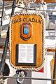 Het naambord van de GLADAN bij Sail Amsterdam 2015.JPG