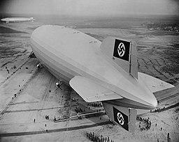 Hindenburg first landing at Lakehurst 1936 Wide World Photos/Minneapolis Sunday Tribune, Public domain, via Wikimedia Commons