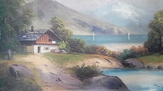 Paintings by Adolf Hitler - Hitler Haus am See