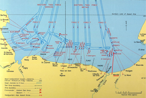 HMS Arethusa (26) - Position of Arethusa during the Invasion of Normandy