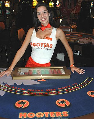 Hooters Casino Hotel - A Hooters Casino girl