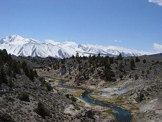 Sherwin Range - Snow-covered Sherwin Range, seen from the Long Valley Caldera.