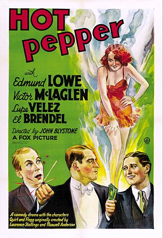 Hot Pepper (1933 film) - 1933 theatrical poster