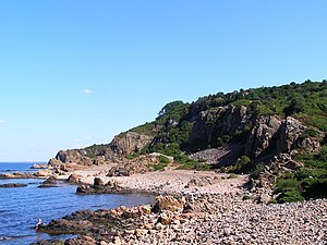 Kattegat - Bjärekusten Nature Reserve with Hovs Hallar in Sweden.