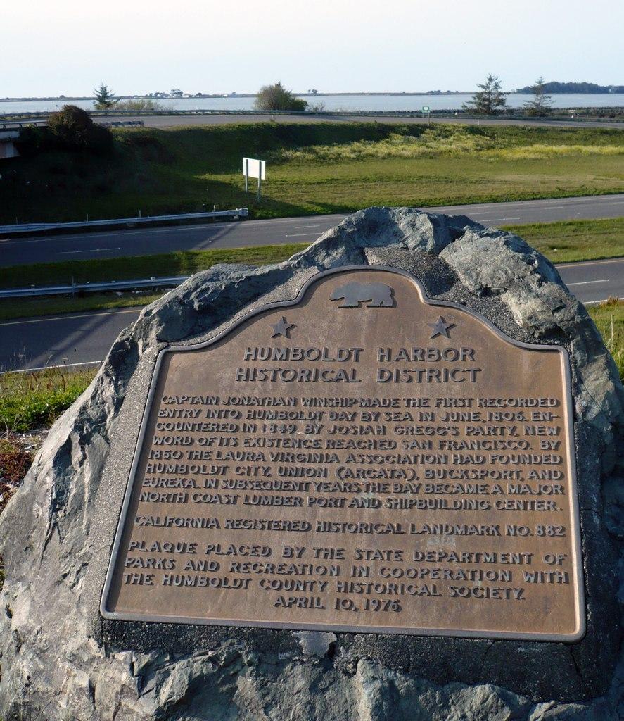 Humboldt Harbor Historical District Plaque