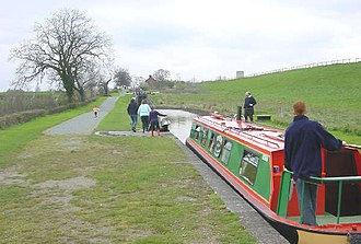 Ellesmere Canal - Hurleston Locks are at the eastern end of the Llangollen Canal, at the junction with the Shropshire Union Canal.