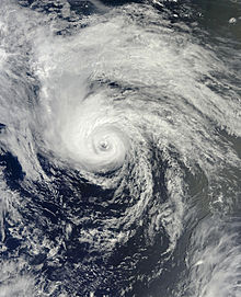 Satellite imagery of a high latitude hurricane in late June