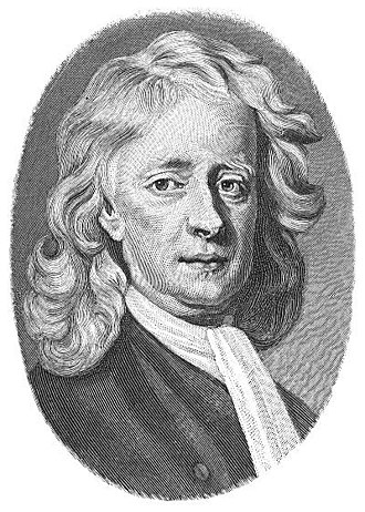 Later life of Isaac Newton - Engraving after Enoch Seeman's 1726 portrait of Newton.