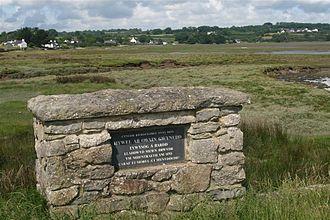 Hywel ab Owain Gwynedd - Hywel ab Owain memorial from Pentraeth, Anglesey