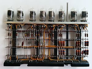 IBM 700/7000 series - Vacuum tube logic module from a 700 series IBM computer.