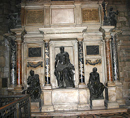Leoni's memorial in Milan Cathedral for Gian Giacomo Medici (died 1555).