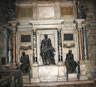 Leone Leoni - Leoni's memorial in Milan Cathedral for Gian Giacomo Medici (died 1555).