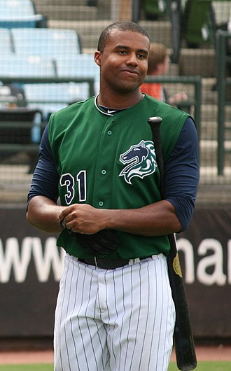 Charlotte Knights - Stefan Gartrell with the Knights in 2010