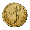 INC-2959-r Ауреус. Веспасиан. Ок. 78—79 гг. (реверс).png