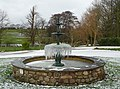 Icicles on fountain, Thurnham Hall - geograph.org.uk - 1655401.jpg