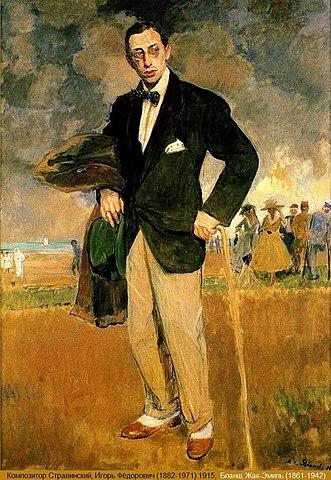 Жак-Эмиль Бланш, портрет Игоря Стравинского, 1915 год.