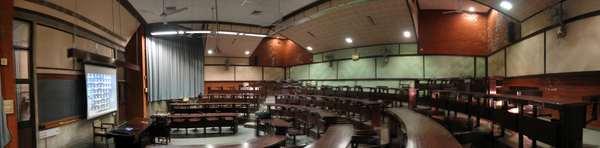 A class room of old campus at the Indian Institute of Management, Ahmedabad, Gujarat, India.