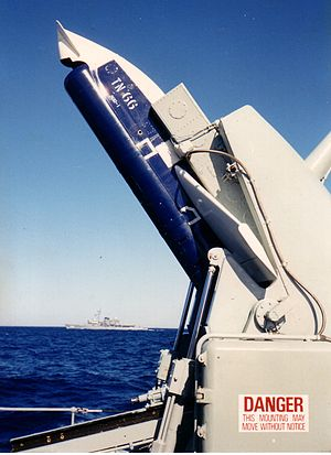 Anti-submarine missile - Ikara, an Australian-designed missile used by several navies between the 1960s and 1990s; a rocket-parachute delivery system carried an acoustic torpedo up to 10 nautical miles (19 km) after launch. A variant re-designed in the UK and used by the Royal Navy could deliver a nuclear depth charge.