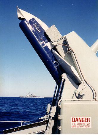 Ikara (missile) - Ikara missile on launcher