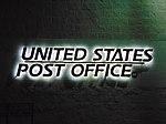 Illuminated sign, Spanish Fork Post Office, Oct 16.jpg