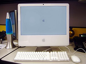 "A 20"" iMac Intel Core Duo."