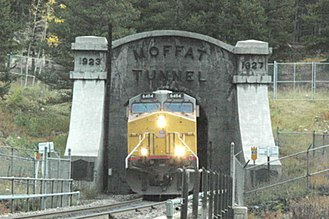 Moffat Tunnel - The western entrance to the tunnel