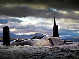 Image of HMS Vengeance returning to HMNB Clyde, after completing Operational Sea Training MOD 45159434.jpg